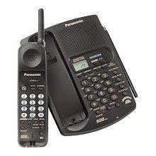 Panasonic KXTC1741 KXTC1741-B 900 MHz Cordless Phone with Caller ID, Answering Device, & Speakerphone (Black)