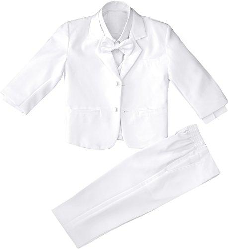 Boys White Tuxedo with a Bow Tie Size 2T - White Tuxedo Bow Tie