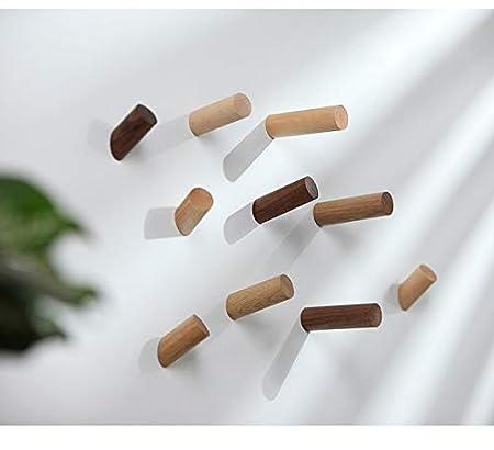 Amazon.com: GINOVO - 4 ganchos de madera natural para abrigo ...