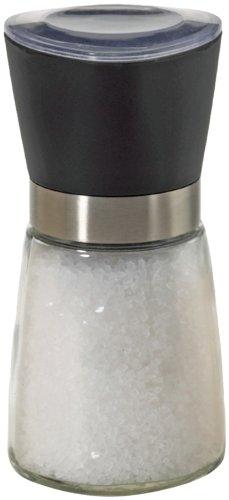 Kamenstein Adjustable Glass Spice Grinder with Salt, 5-Inch