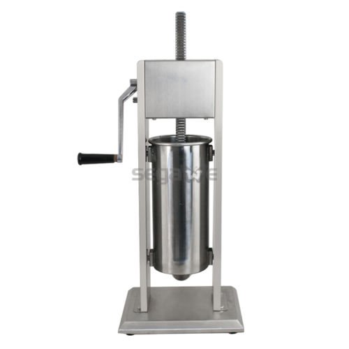 New 5L Vertical Commercial Home Sausage Stuffer 11LB 2 Speed Stainless Meat Press