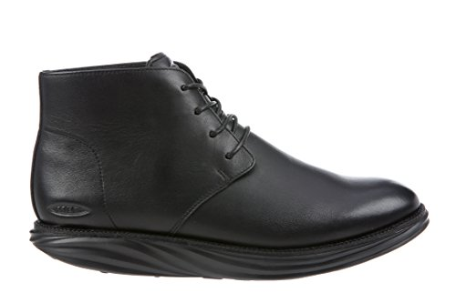 Mbt Mens Cambridge Mid Cut Boot Svart Läder Svart Läder