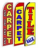 Carpet Sale, Carpet, Tile Sale King Swooper Feather Flag Sign- Pack of 3