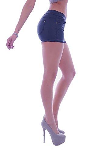 in pantaloncini letec Nero Jeans donna Pants lederpflege pantaloni pelle in similpelle effetto da nero Hot 65HI0w