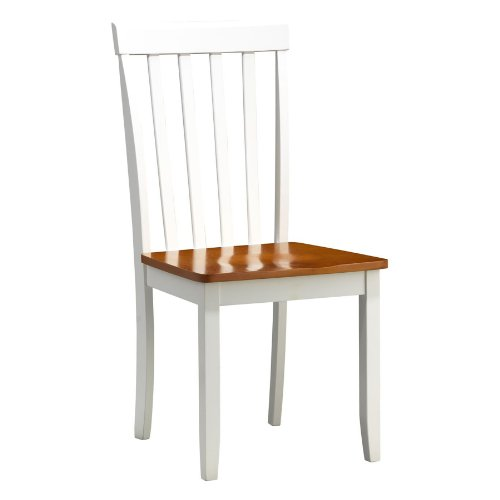Boraam 22031 Bloomington Dining Chair, White/Honey Oak, Set of 2