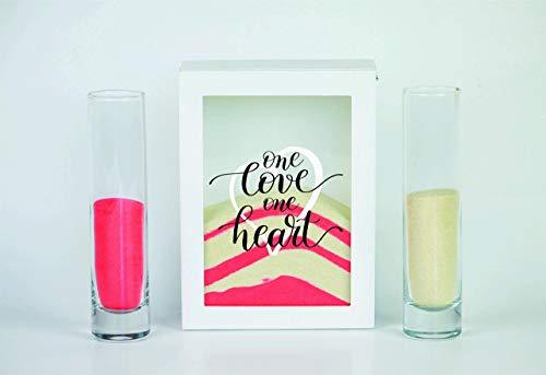 (Streamside Shoppe Unity Sand Ceremony Set, One Love One Heart, Shadow Box Wedding, Vow Renewal, Beach Wedding Decor, Unity Candle)