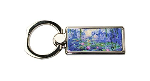 Artist Claude Monet's Nymphaeas Rectangle Ring - Phone Holder Stand - (Artist Rectangle Magnet)