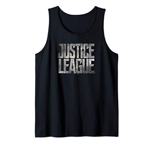 Justice League Movie Metal Logo Tank Top from DC Comics