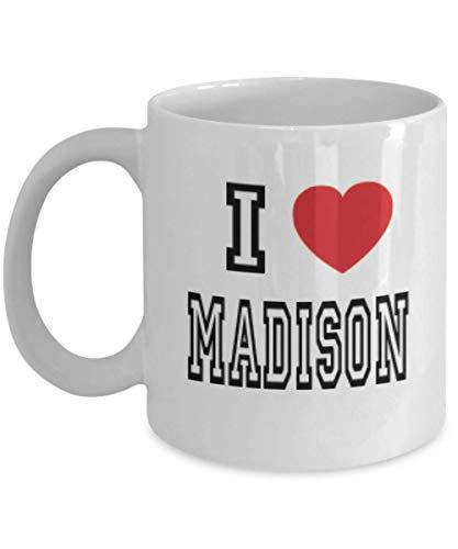 11oz I Love Madison Mug Lover Gift Coffee Funny Idea Tea Cup Cute Ceramic Present Gag,al3237]()
