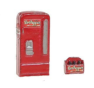 - HO Scale Upright Soda Machine w/Case -- Dr. Pepper