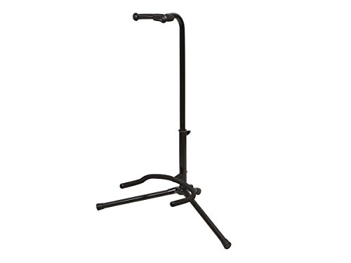Monoprice Classic Single Guitar Stand - Black | 25-29 Inch Adjustable Neck, 20.5 Inch Base Span Compatible With All Standard Sized Guitars