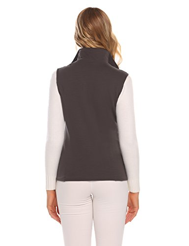 oscuro mangas Chaleco gris mujer Swiftt para Sin OvRB1q
