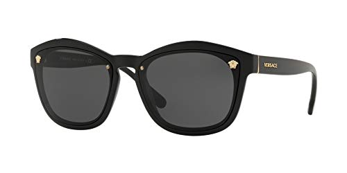 Versace Woman Sunglasses, Black Lenses Injected Frame, 57mm (Versace Gläser)