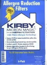 6 3M HEPA KIRBY Vacuum Bags Micron Magic 204803