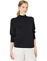 Amazon Brand - Daily Ritual Women's Fine Gauge Stretch Mockneck Pullover Sweater