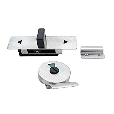 Satin Finish, Stainless Steel, Surface Mounted, Slide Latch W/Keeper, Indicator & Door Pull