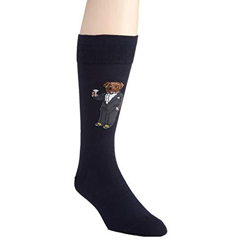 Polo Ralph Lauren Tuxedo Bear Premium Dress Sock (889130) O/S/Navy