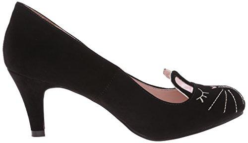T.U.K. Shoes Womens Black Foo Foo Bunny Antipop Heel Black