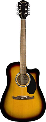 Fender FA-125CE Dreadnought Cutaway Acoustic-Electric Guitar – Sunburst
