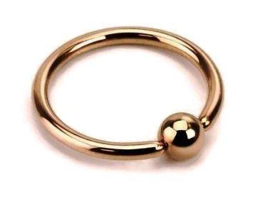 Septum Closure - BCR Rose Gold Ball Closure Septum,Upper Ear Daith Rook,Tragus,Cartilage,Helix,Hoop Earring,Nose Ring,Eyebrow Piercing 16 Gauge,Diameter:10mm