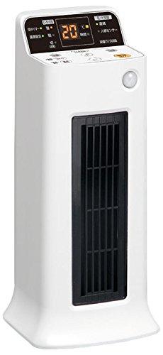 アイリスオーヤマ セラミックファンヒーター 人感センサー付き (自動温度調整機能付き) ホワイト JCH-ST122T-W B014RK8BN6