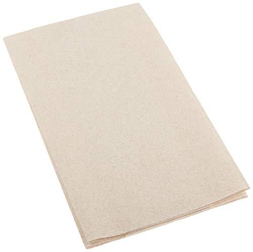 """AmazonBasics Linen-Feel Guest Towel, 8.5"""" x 4.25"""", Natural, 500-Count"""