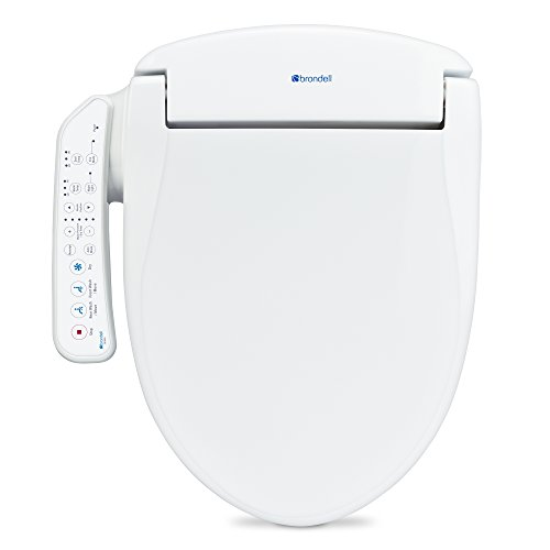 Brondell Swash SE400 Elongated Bidet Seat with Air Dryer and Stainless-Steel Nozzle | Nightlight | Nozzle Oscillation |