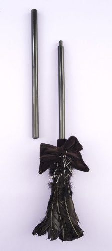 Black Feather Costume Witch Broom
