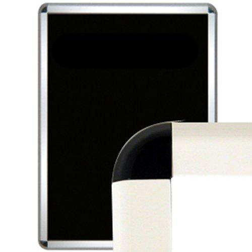 シンエイ タンパーグリップ TG-32R  屋外防雨用 パックシート付 B2 フレーム:ホワイト コーナー:ブラック まとめ売り 10枚 B078GKBNKW ブラック ブラック