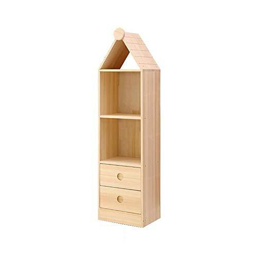 Cd Pine Storage Cabinet (Bookshelf Wooden Bookcase Drawers Kids Toys Shelf Storage Organizer Children's Room Nursery CJC (Size : 4030155cm))