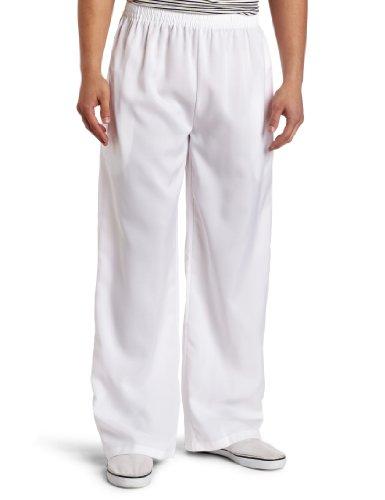 White Girl Basic Costume (Dreamgirl Men's Elastic Waist Basic Pant, White, Medium)