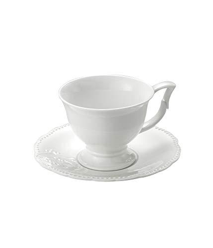 Conjunto 6 Xícaras para Chá de Porcelana Queen Lyor Branco 200Ml