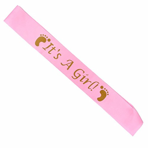 It's A Girl Baby Sash It's A Boy Sash Baby Shower Sash B01 (Pink Girls Sash) - Its Girl