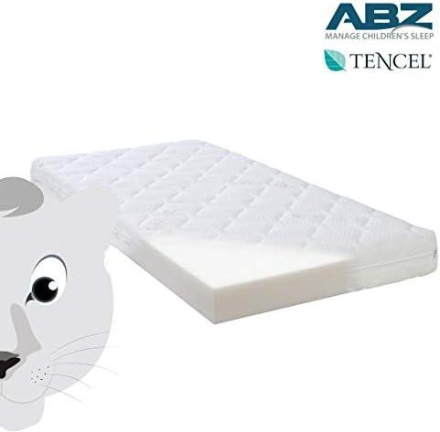 ABZ - Matelas Bébé 70 x 140cm - PANTHERE BLANCHE - Confort+ - Housse Tencel - Hypoallergenique