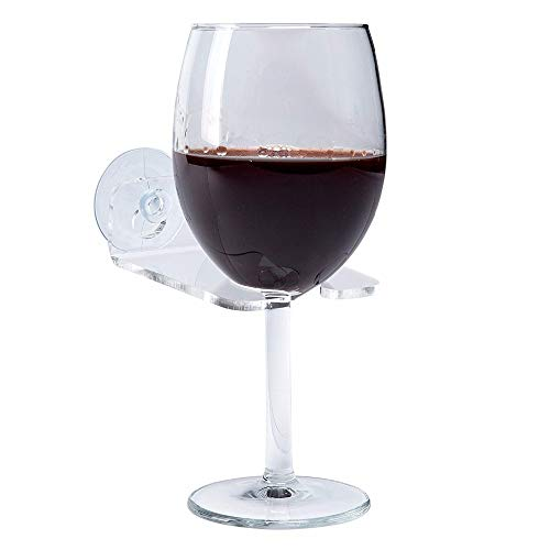 Shower and Bathtub Wine Glass Holder - Treat Yourself to Luxury Without Spilling Your Drink with These Bath Tub Accessories - These Spa Cup Holders are Ideal Gifts for Women