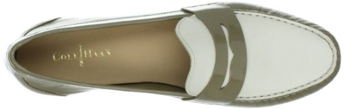 Cole Haan Monroe Deconstructed Penny-Mokassin Khaki/White