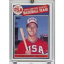 Mark McGwire 1985 Topps Baseball NM to Mint Rookie Card #401 (Pictured on USA Olympic Team) Shipped in Protective Screw Down Holder!