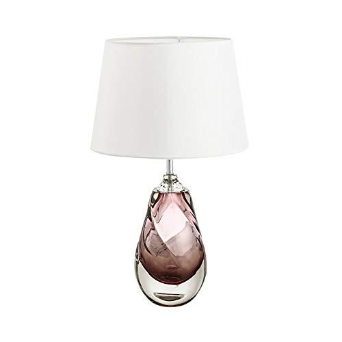 QJL_ANA LED lampara de Mesa, Post-Moderna Minimalista de Cristal lampara de Mesa, persiana Blanca clasica, Personalidad de la Manera lampara de Escritorio de Oficina