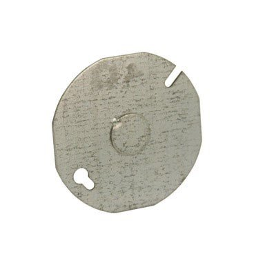 Hubbell-Raco 8703-5 Flat Round Cover with 1/2-Inch Center Knockout, 3-1/2-Inch