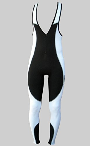 Zimco Men Cycling Bib Tight Winter Cycle Thermal Super Roubaix BibTight White (Medium) (Winter Bib Tights)