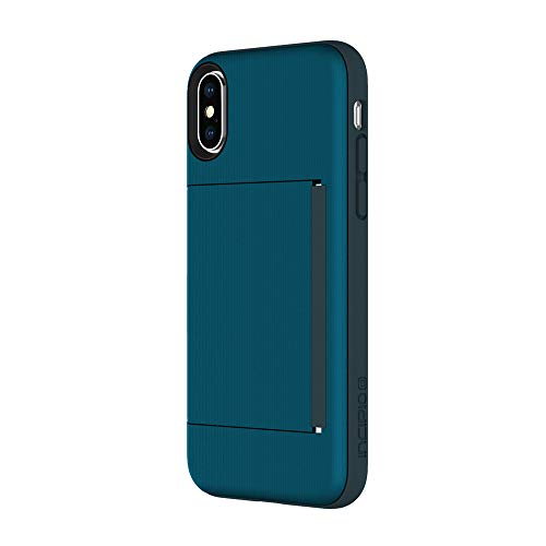 Incipio Stowaway iPhone X Case with Credit Card Slot Holder and Integrated Stand for iPhone X - Navy