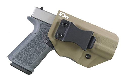 FDO Industries -Formerly Fierce Defender- IWB Kydex Holster Polymer 80 Compact (PF940C) (19/23) -The Winter Warrior Series -Made in USA- (Flat Dark Earth) ()