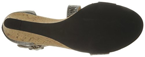 Pale Women's Platino Marise VANELi Wedge Gesa Buckle Sandal Silver pZaHg