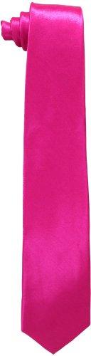 Sale Pink Ties - American Exchange Big Boys' Solid Tie, Fuchsia, 50 Inch