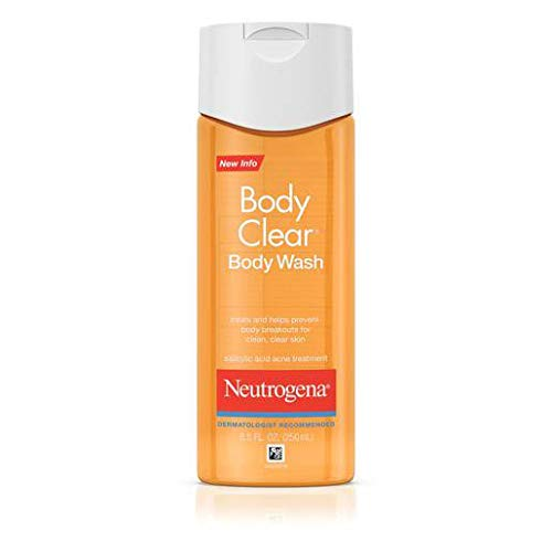 Neutrogena Body Clear Oil Free Acne Body Scrub with Salicylic Acid Acne Treatment Medicine, Exfoliating Salicylic Acid Body Wash to Treat Acne on Back, Chest, and Shoulders, 8.5 fl. oz (Pack of 3)