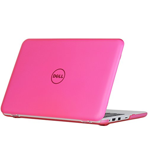 iPearl mCover Hard Case for 11.6 Dell Inspiron 11 3162/3164 Series (Released After Dec. 2015, NOT Compatible with Older 3137/3138 and 3147/3148 2-in-1 Series) 3162/3164 Laptop (Pink)
