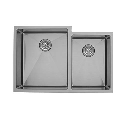- Elite EL-78 Large/Small Double Undermount Bowl