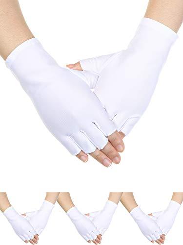 Sumind 4 Pairs Adult Uniform Gloves Spandex Gloves