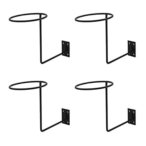 LQKYWNA Zwarte Stand Helm Houder Wandmontage Motorhelm Opslag Stand Haak voor Motorhelmen Honkbal Helmen Basketbal (4 ST…