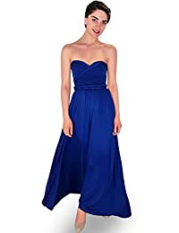 4Now Fashions Long Royal Blue Infinity Bridesmaid Dress Convertible Multiway